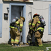 Firefighters participating in training exercise