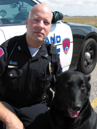 Officer Weldon Wright and his canine Rick