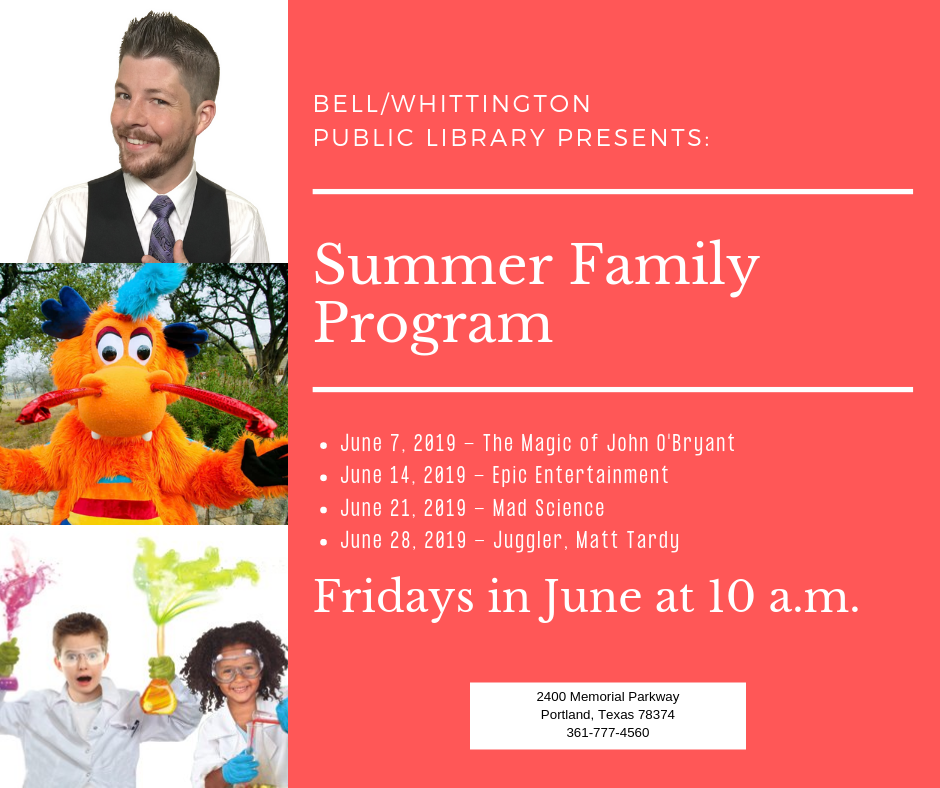 2019 Summer Family Program
