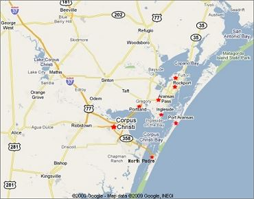 Coastal Bend map